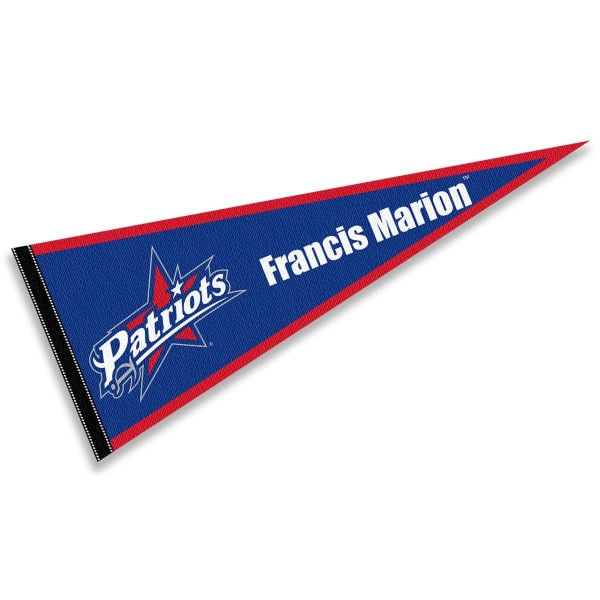 FMU Patriots Pennant consists of our full size sports pennant which measures 12x30 inches, is constructed of felt, is single sided imprinted, and offers a pennant sleeve for insertion of a pennant stick, if desired. This FMU Patriots Pennant Decorations is Officially Licensed by the selected university and the NCAA.