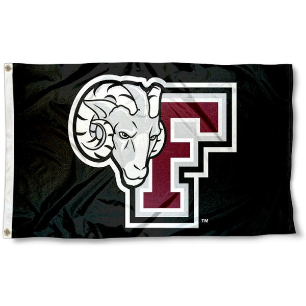 Fordham Rams Black Flag measures 3x5 feet, is made of 100% polyester, offers quadruple stitched flyends, has two metal grommets, and offers screen printed NCAA team logos and insignias. Our Fordham Rams Black Flag is officially licensed by the selected university and NCAA.