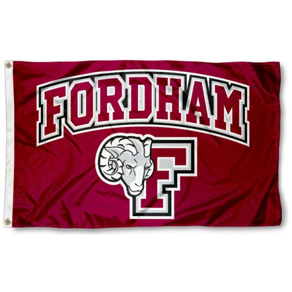 Fordham Rams New Logo Flag is made of 100% nylon, offers quad stitched flyends, measures 3x5 feet, has two metal grommets, and is viewable from both side with the opposite side being a reverse image. Our Fordham Rams New Logo Flag is officially licensed by the selected college and NCAA