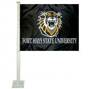 Fort Hays State Tigers Car Window Flag