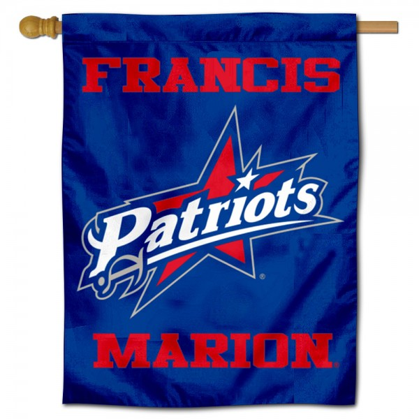 Francis Marion Patriots Double Sided House Flag is a vertical house flag which measures 30x40 inches, is made of 2 ply 100% polyester, offers screen printed NCAA team insignias, and has a top pole sleeve to hang vertically. Our Francis Marion Patriots Double Sided House Flag is officially licensed by the selected university and the NCAA.