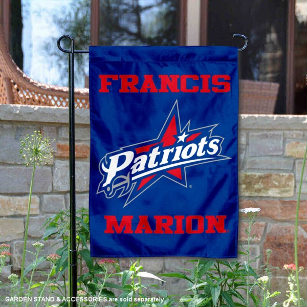 Francis Marion Patriots Garden Flag is 13x18 inches in size, is made of 2-layer polyester, screen printed university athletic logos and lettering, and is readable and viewable correctly on both sides. Available same day shipping, our Francis Marion Patriots Garden Flag is officially licensed and approved by the university and the NCAA.