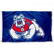 Fresno State Bulldogs Blue Logo Flag
