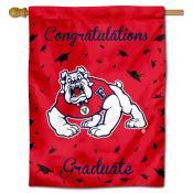 Fresno State Bulldogs Congratulations Graduate Flag