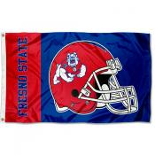 Fresno State Bulldogs Football Helmet Flag