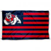 Fresno State Bulldogs Stripes Flag