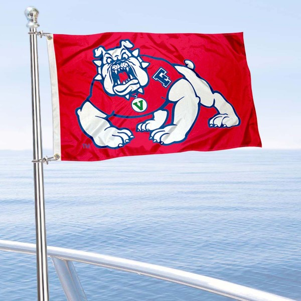 Fresno State University Golf Cart Flag