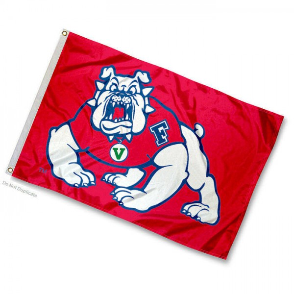 Fresno State University Mini Flag is 12x18 inches, made of 100% Nylon, offers two-stitched flyends for durability, has two metal grommets, and is Double Sided. Our mini flags for Fresno State University are licensed by the university and NCAA and can be used as a boat flag, motorcycle flag, golf cart flag, or ATV flag.