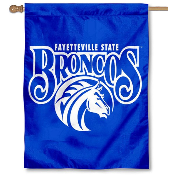 FSU Broncos Banner Flag is a vertical house flag which measures 30x40 inches, is made of 2 ply 100% polyester, offers screen printed NCAA team insignias, and has a top pole sleeve to hang vertically. Our FSU Broncos Banner Flag is officially licensed by the selected university and the NCAA.