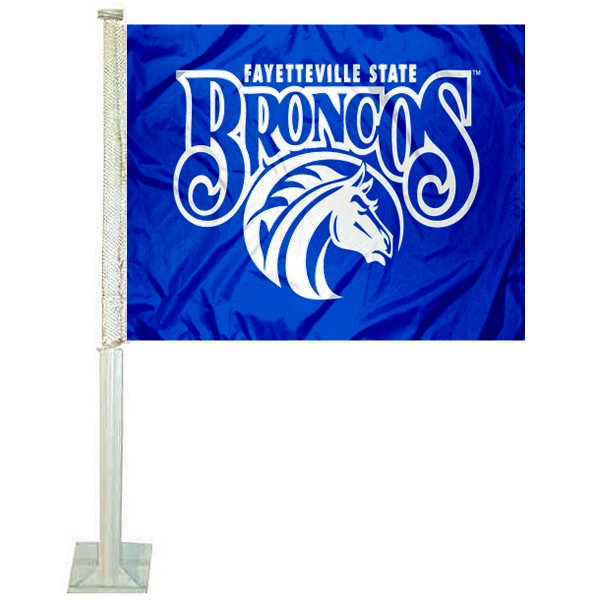 FSU Broncos Logo Car Flag measures 12x15 inches, is constructed of sturdy 2 ply polyester, and has screen printed school logos which are readable and viewable correctly on both sides. FSU Broncos Logo Car Flag is officially licensed by the NCAA and selected university.