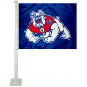 FSU Bulldogs Car Window Flag