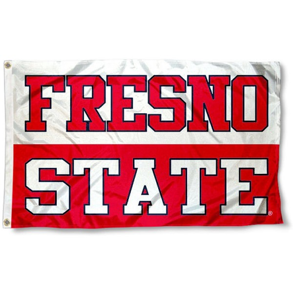 FSU Bulldogs FRESNO STATE Flag measures 3x5 feet, is made of 100% polyester, offers quadruple stitched flyends, has two metal grommets, and offers screen printed NCAA team logos and insignias. Our FSU Bulldogs FRESNO STATE Flag is officially licensed by the selected university and NCAA.