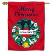 FSU Bulldogs Happy Holidays Banner Flag