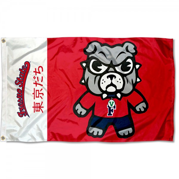 FSU Bulldogs Kawaii Tokyo Dachi Yuru Kyara Flag measures 3x5 feet, is made of 100% polyester, offers quadruple stitched flyends, has two metal grommets, and offers screen printed NCAA team logos and insignias. Our FSU Bulldogs Kawaii Tokyo Dachi Yuru Kyara Flag is officially licensed by the selected university and NCAA.