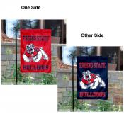 FSU Bulldogs Two Logo Garden Flag