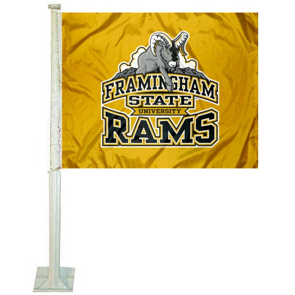 FSU Rams Logo Car Flag measures 12x15 inches, is constructed of sturdy 2 ply polyester, and has screen printed school logos which are readable and viewable correctly on both sides. FSU Rams Logo Car Flag is officially licensed by the NCAA and selected university.