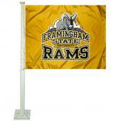 FSU Rams Logo Car Flag