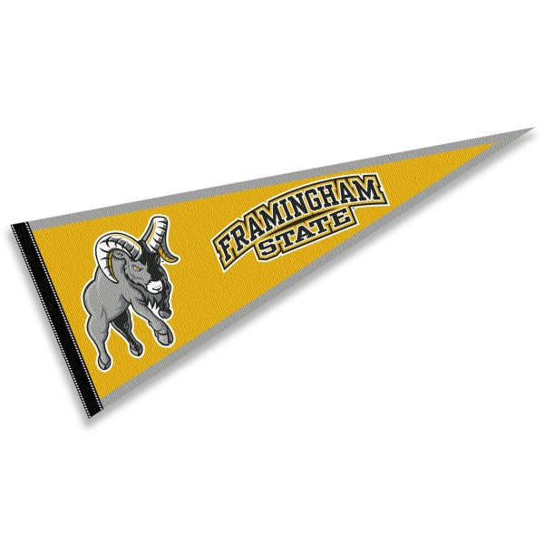 FSU Rams Pennant consists of our full size sports pennant which measures 12x30 inches, is constructed of felt, is single sided imprinted, and offers a pennant sleeve for insertion of a pennant stick, if desired. This FSU Rams Pennant Decorations is Officially Licensed by the selected university and the NCAA.