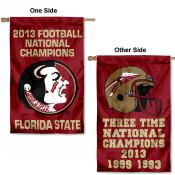 FSU Seminoles 3-Time Football Champs Banner