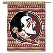 FSU Seminoles Chevron Double Sided House Flag
