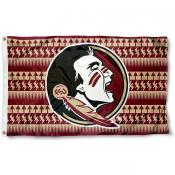 FSU Seminoles Chevron Logo Flag