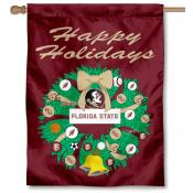 FSU Seminoles Happy Holidays Banner Flag