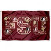 FSU Seminoles Mosaic Logo Flag