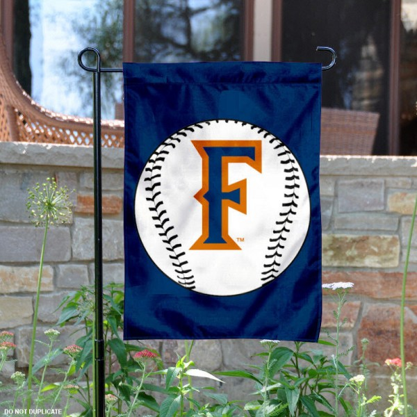 Fullerton Titans Baseball Garden Flag is 13x18 inches in size, is made of 2-layer polyester, screen printed Fullerton Titans Baseball athletic logos and lettering. Available with Express Shipping, Our Fullerton Titans Baseball Garden Flag is officially licensed and approved by Fullerton Titans Baseball and the NCAA.