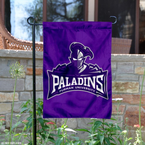 Furman Paladins Wordmark Garden Flag is 13x18 inches in size, is made of 2-layer polyester, screen printed Furman Paladins Bay athletic logos and lettering. Available with Same Day Express Shipping, Our Furman Paladins Wordmark Garden Flag is officially licensed and approved by Furman Paladins Bay and the NCAA.