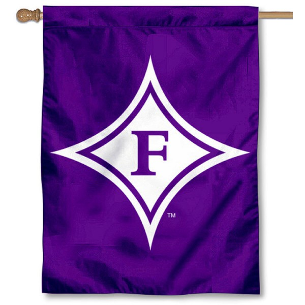 Furman University House Flag is a vertical house flag which measures 30x40 inches, is made of 2 ply 100% polyester, offers screen printed NCAA team insignias, and has a top pole sleeve to hang vertically. Our Furman University House Flag is officially licensed by the selected university and the NCAA.