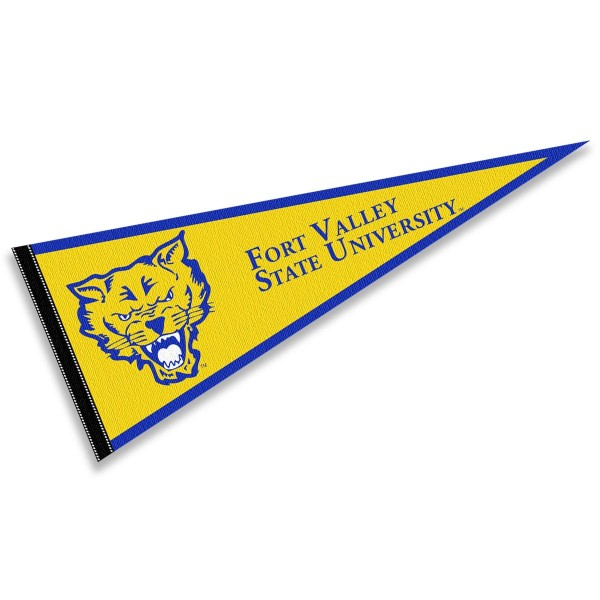 FVSU Wildcats Pennant consists of our full size sports pennant which measures 12x30 inches, is constructed of felt, is single sided imprinted, and offers a pennant sleeve for insertion of a pennant stick, if desired. This FVSU Wildcats Pennant Decorations is Officially Licensed by the selected university and the NCAA.