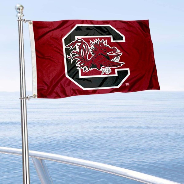 Gamecocks Golf Cart Flag is a small 12x18 inches, made of 2-ply polyester with quad stitched flyends, and is double-sided. Our Golf Cart Logo Flags are Officially Licensed and Approved by University of South Carolina and NCAA.
