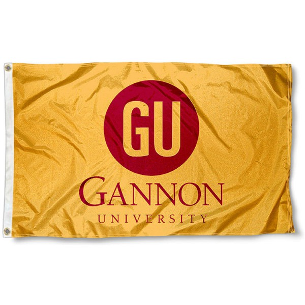 Gannon University Flag measures 3'x5', is made of 100% poly, has quadruple stitched sewing, two metal grommets, and has double sided Gannon University logos. Our Gannon University Flag is officially licensed by the selected university and the NCAA.