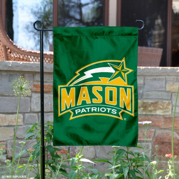 George Mason GMU Patriots Garden Flag is 13x18 inches in size, is made of 2-layer polyester, screen printed George Mason University athletic logos and lettering. Available with Same Day Express Shipping, Our George Mason GMU Patriots Garden Flag is officially licensed and approved by George Mason University and the NCAA.