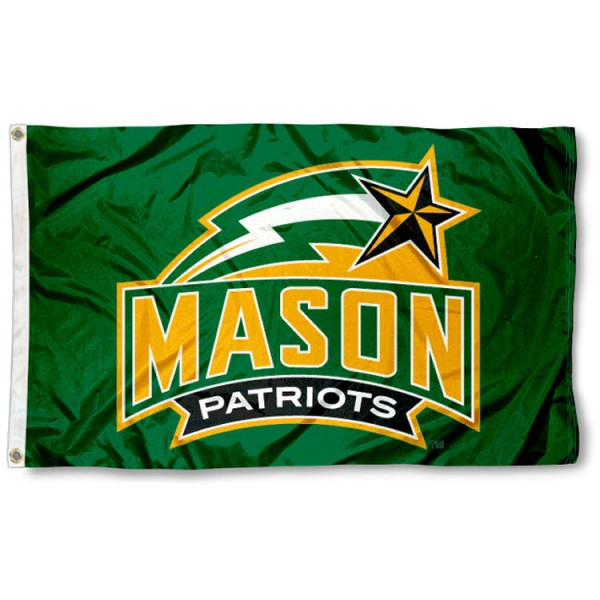 This George Mason Patriots Flag measures 3'x5', is made of 100% nylon, has quad-stitched sewn flyends, and has two-sided George Mason Patriots printed logos. Our George Mason Patriots Flag is officially licensed and all flags for George Mason Patriots are approved by the NCAA and Same Day UPS Express Shipping is available.