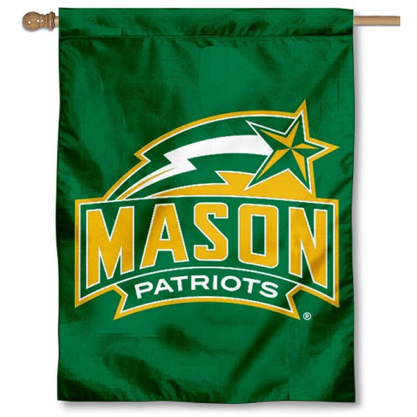 George Mason University Banner Flag is a vertical house flag which measures 30x40 inches, is made of 2 ply 100% polyester, offers dye sublimated NCAA team insignias, and has a top pole sleeve to hang vertically. Our George Mason University Banner Flag is officially licensed by the selected university and the NCAA.