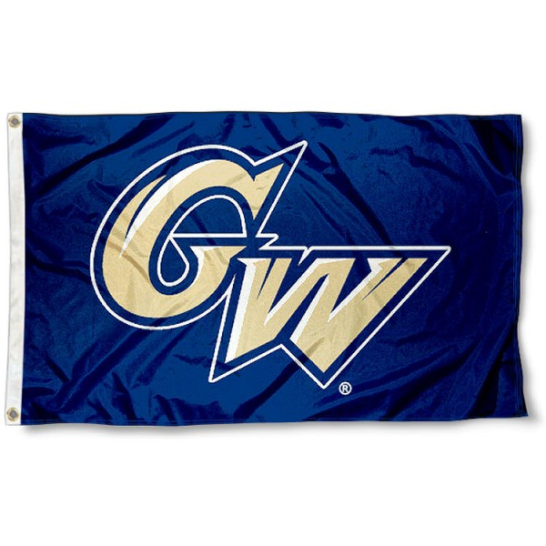 George Washington GW Flag measures 3'x5', is made of 100% poly, has quadruple stitched sewing, two metal grommets, and has double sided Team University logos. Our George Washington GW Flag is officially licensed by the selected university and the NCAA.