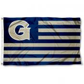 Georgetown GU Hoyas Stripes Flag