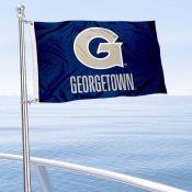 Georgetown Hoyas Boat and Mini Flag