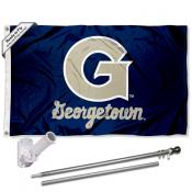 Georgetown Hoyas Flag Pole and Bracket Kit