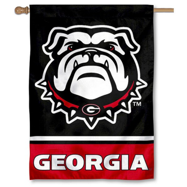 Georgia Bulldogs 2-Sided Home Flag is a vertical house flag which measures 28x40 inches, is made of 2 ply 100% nylon, offers screen printed NCAA team insignias, and has a top pole sleeve to hang vertically. Our Georgia Bulldogs 2-Sided Home Flag is officially licensed by the selected university and the NCAA.