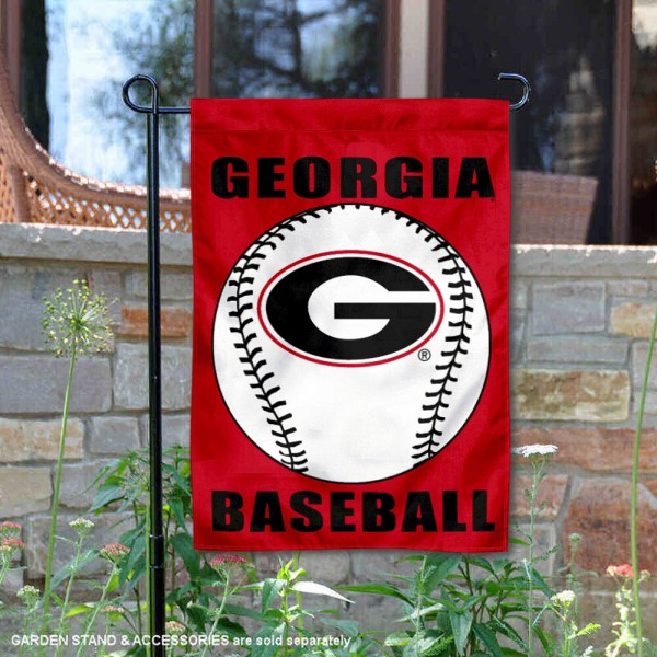 Georgia Bulldogs Baseball Team Garden Flag is 13x18 inches in size, is made of 2-layer polyester, screen printed Georgia Bulldogs Baseball athletic logos and lettering. Available with Express Shipping, Our Georgia Bulldogs Baseball Team Garden Flag is officially licensed and approved by Georgia Bulldogs Baseball and the NCAA.