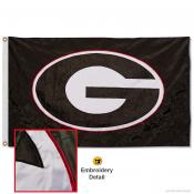 Georgia Bulldogs Black Nylon Embroidered Flag