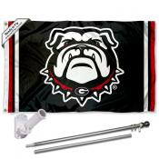 Georgia Bulldogs Flag Pole and Bracket Kit