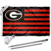 Georgia Bulldogs Flag Pole and Bracket Kit