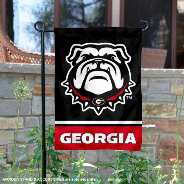 Georgia Bulldogs Garden Flag is 13x18 inches in size, is made of 2-layer polyester, screen printed logos and lettering. Available with Same Day Express Shipping, Our Georgia Bulldogs Garden Flag is officially licensed and approved by the NCAA.