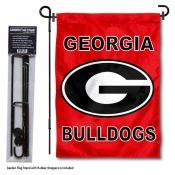 Georgia Bulldogs Garden Flag and Pole Stand Mount