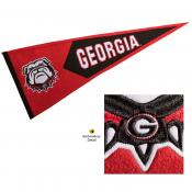 Georgia Bulldogs Genuine Wool Pennant