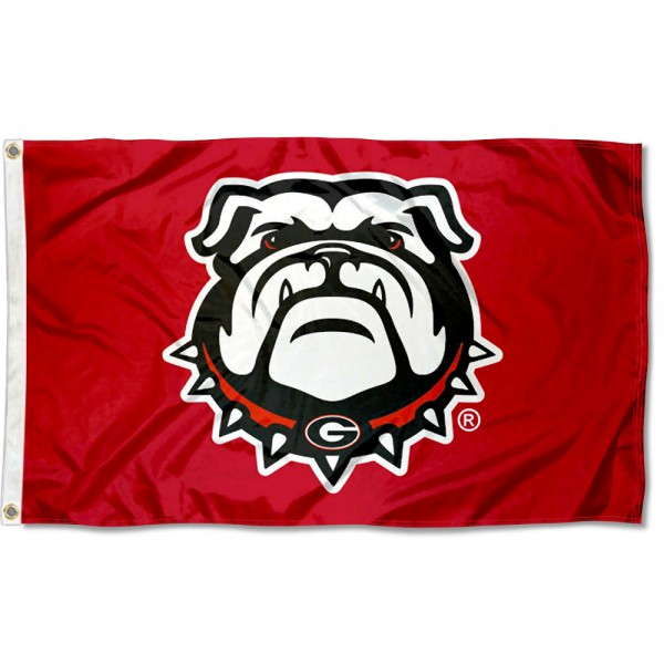 Georgia Bulldogs Red Dawgs Flag measures 3x5 feet, is made of 100% polyester, offers quadruple stitched flyends, has two metal grommets, and offers screen printed NCAA team logos and insignias. Our Georgia Bulldogs Red Dawgs Flag is officially licensed by the selected university and NCAA.