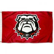Georgia Bulldogs Red Dawgs Flag